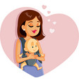 happy mother holding baby vector image vector image