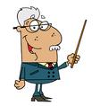 Hispanic Senior Professor Man vector image