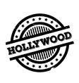 Hollywood rubber stamp vector image vector image