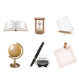 Icon set school and business themes vector image vector image