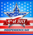independence day star banner vector image vector image