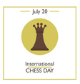 International Chess Day vector image vector image