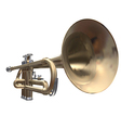 Isolated trumpet on a white background vector image