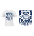 lake or river fishing t-shirt print with bream vector image vector image