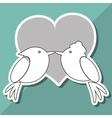 Love with bird design vector image