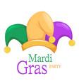 mardi gras jester hat vector image vector image