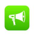megaphone icon digital green vector image vector image
