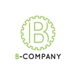 minimalistic outline green B letter vector image