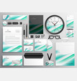 modern business stationery set for your brand vector image vector image