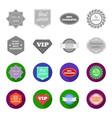money back guarantee vip medium qualitypremium vector image vector image