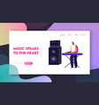 musician performing on stage playing electric vector image vector image