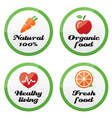 Organic food fresh and natural products icons vector image vector image