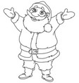 outlined cheerful santa vector image