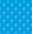 robe pattern seamless blue vector image vector image