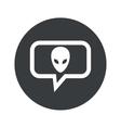 Round alien dialog icon vector image vector image