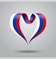 russian flag heart-shaped ribbon vector image vector image