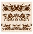 Set of borders for design vector image
