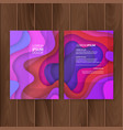 set of colorful banners size of a4 decoration vector image vector image