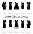 set of little black dresses in different styles vector image vector image