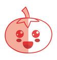 silhouette kawaii cute happy tomato vegetable vector image vector image
