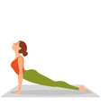 sporty beautiful young woman practicing yoga vector image vector image