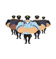 Strong Police to arrest Police officers came to vector image vector image