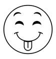 tongue out face emoticon kawaii character vector image