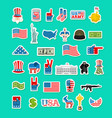 usa icon national sign of america american flag vector image vector image