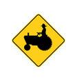 usa traffic road signs farm vehicle ahead vector image vector image