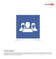 user group icon - blue photo frame vector image