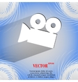 Video-camera Flat modern web button on a flat vector image vector image