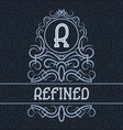 vintage label design template for refined product vector image