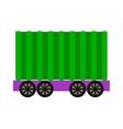 Wagon train vector image vector image