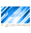 Wall Monthly Line Calendar for 2016 Year Design vector image
