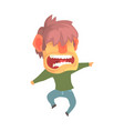 young angry screaming man despair aggressive vector image vector image