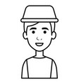 young man with taxi light avatar character vector image vector image