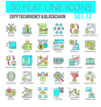 cryptocurrency and blockchain icons vector image