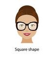 woman square face shape vector image