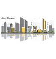 abu dhabi uae city skyline with gray buildings vector image vector image