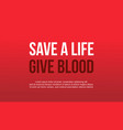 background of world blood donor day style vector image vector image