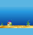 background template with underwater scene vector image vector image