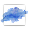 beautiful blue watercolor texture vector image vector image