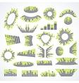 Big set music equalizer design elements vector image vector image