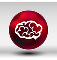 Brain icon mind medical brainstorm head human vector image vector image