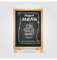 chalk drawings Retro typography Cake vector image vector image