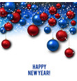 christmas background with red and blue vector image vector image