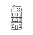 classic building private facade icon thick line vector image vector image