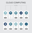 cloud computing infographic 10 steps ui design vector image vector image