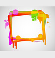colored frame vector image vector image