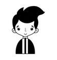 contour nice boy with elegant suit and hairstyle vector image vector image